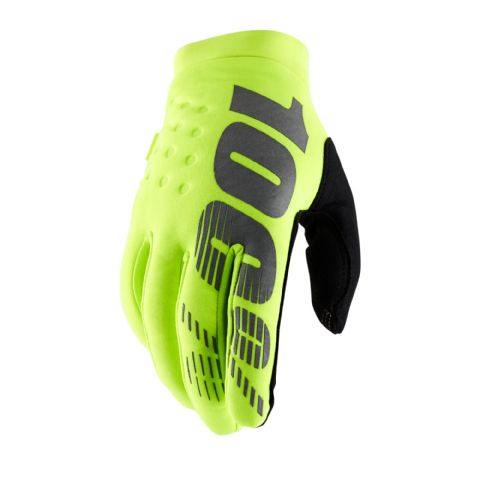 BRISKER 100% Glove Fluo Yellow Youth